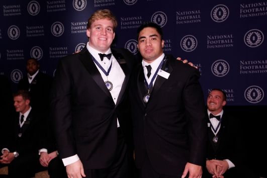 Barrett Jones and Manti Te'o