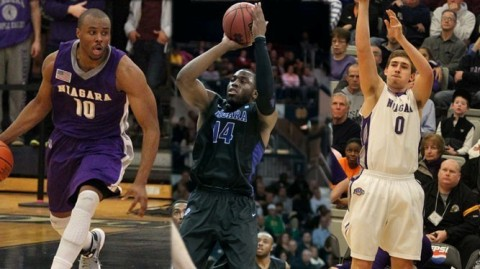 Niagara basketball (Credit: Niagara Athletics)