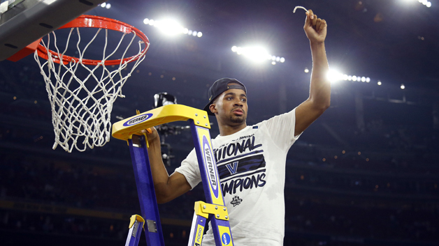 HOUSTON, TEXAS - APRIL 04:  Phil Booth #5 of the Villanova Wildcats cuts the net after defeating the North Carolina Tar Heels 77-74 to win the 2016 NCAA Men's Final Four National Championship game at NRG Stadium on April 4, 2016 in Houston, Texas.  (Photo by Streeter Lecka/Getty Images)